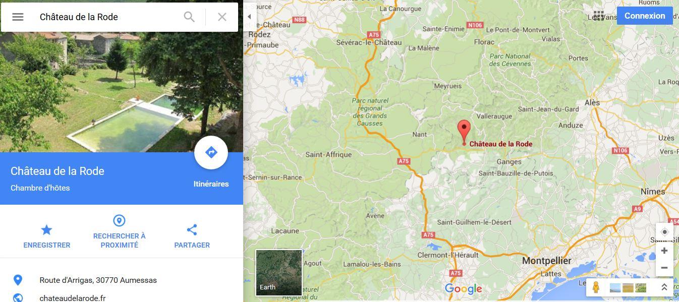 chateau de la rode map