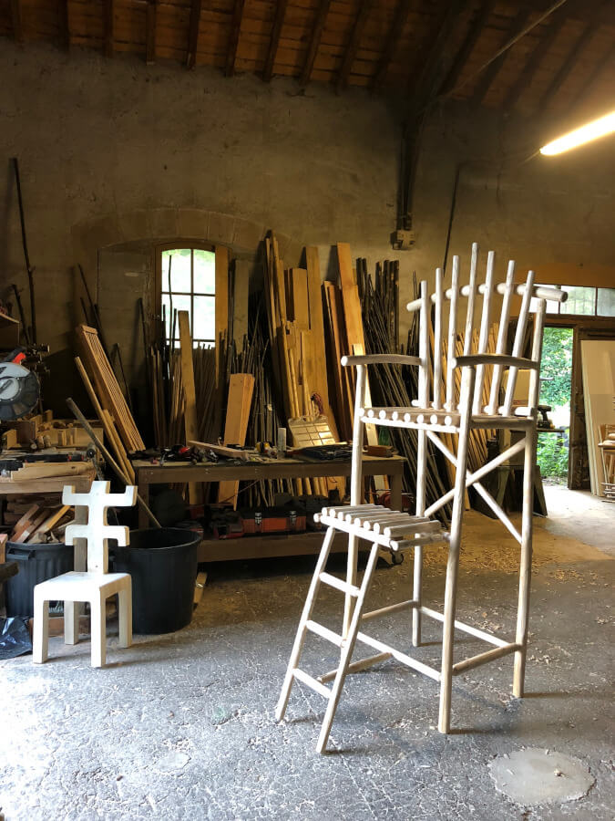 Chaise Haute et Monoxyle-atelier